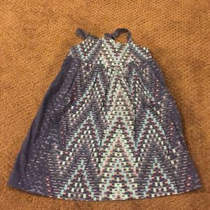 Anthem of the Ants Blue Colored Blocks Sundress